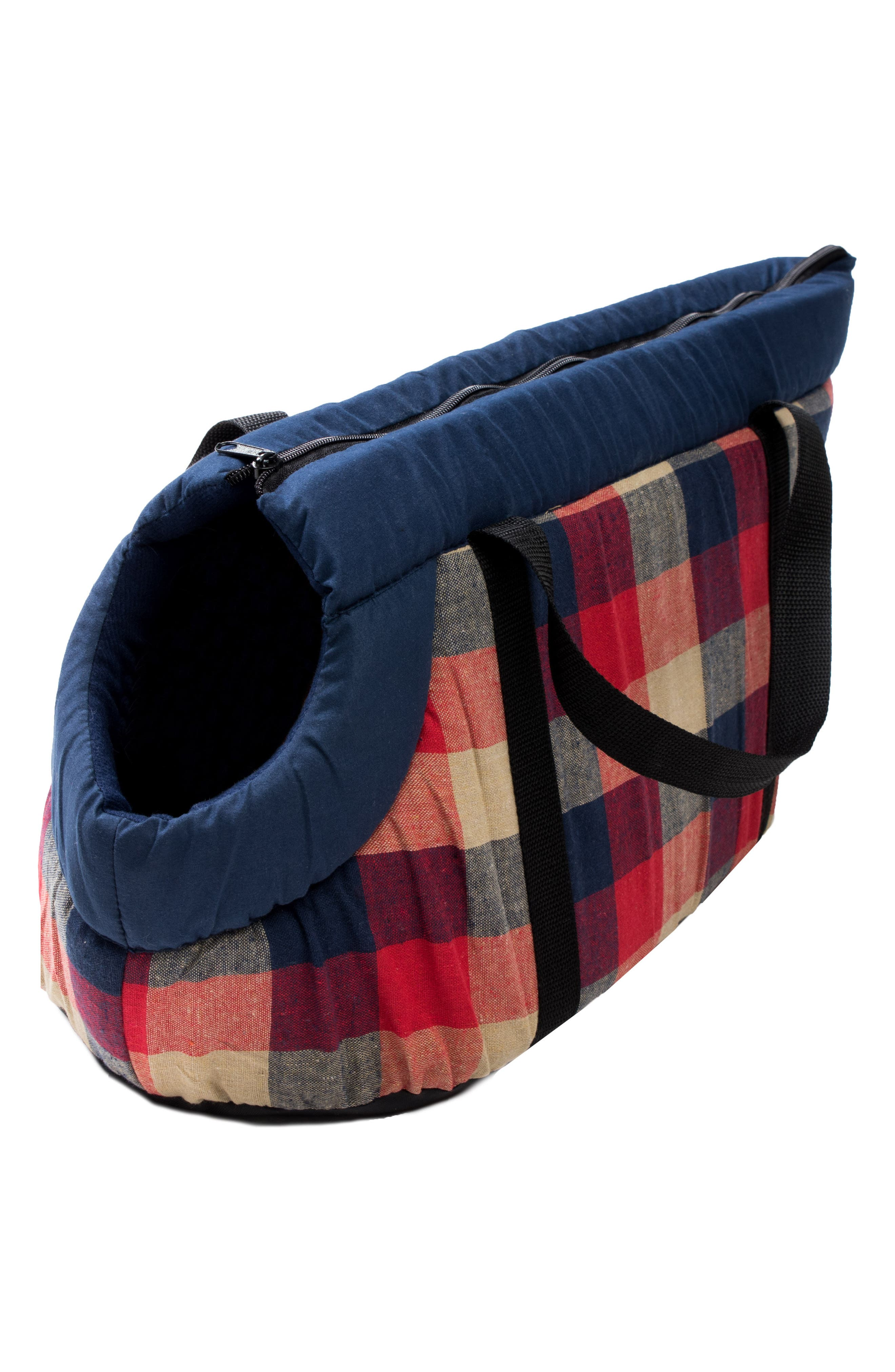Image of Duck River Textile Hasley Red/Navy Plaid Pet Carrier