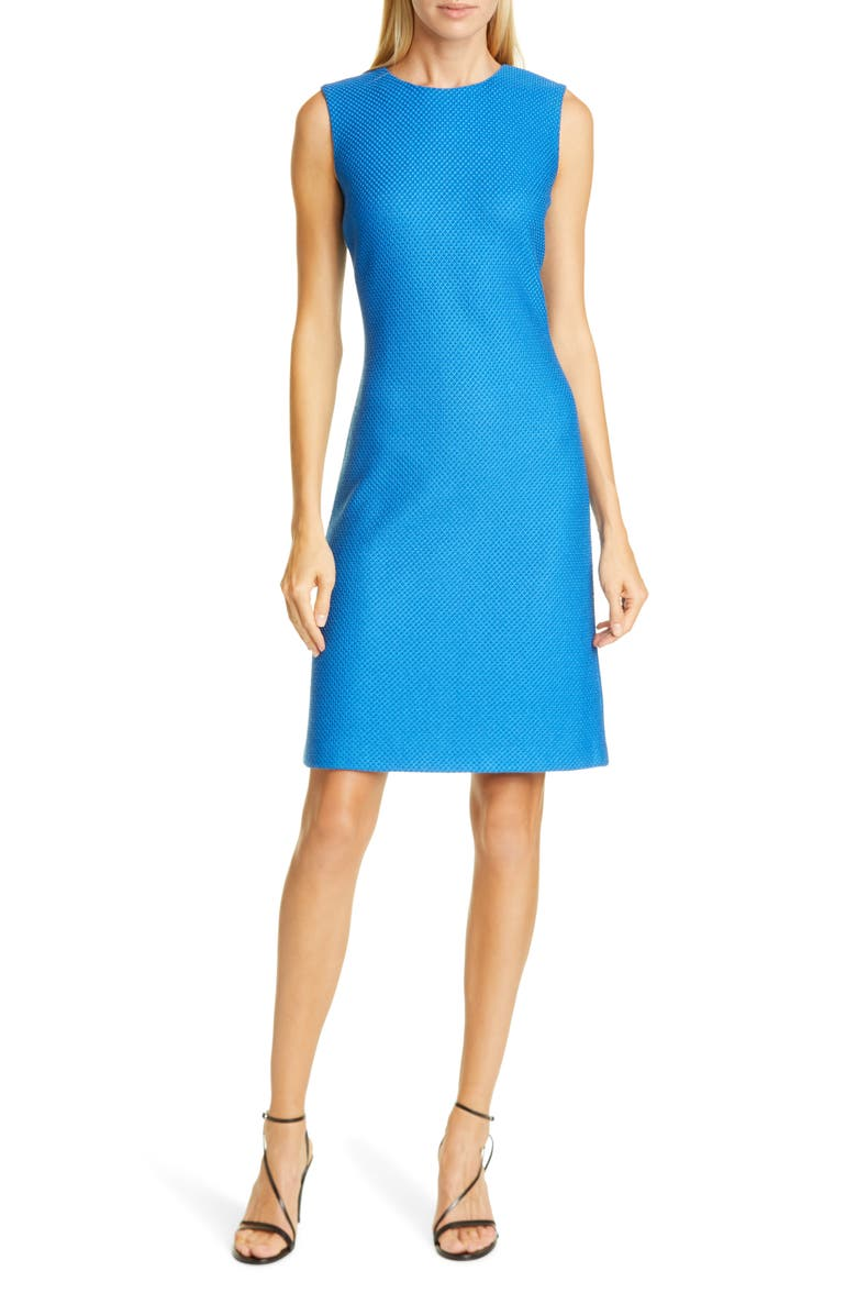 ST. JOHN COLLECTION Honeycomb Knit Sheath Dress, Main, color, 400