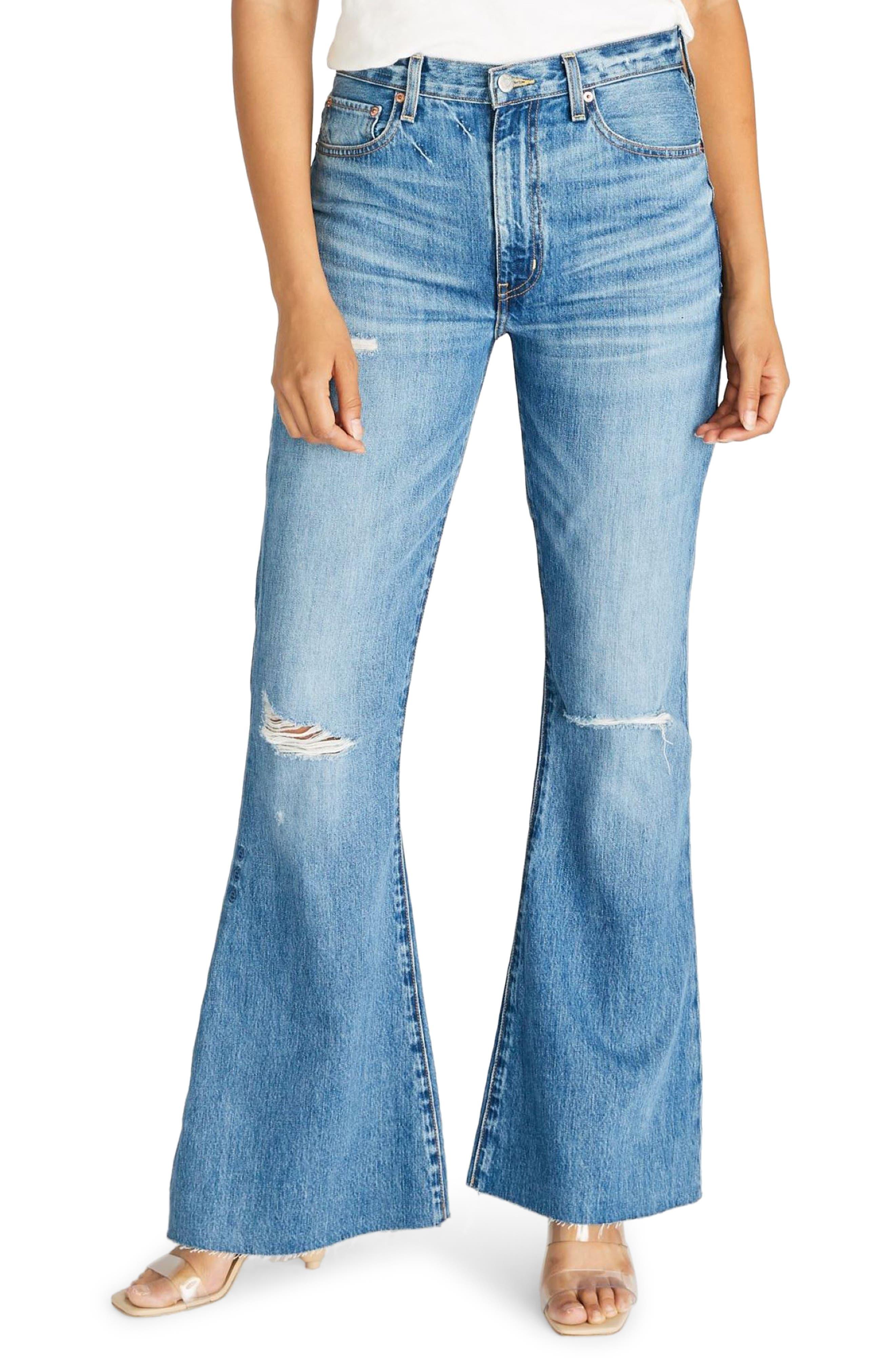 Women's Etica Nina High Waist Distressed Flare Jeans