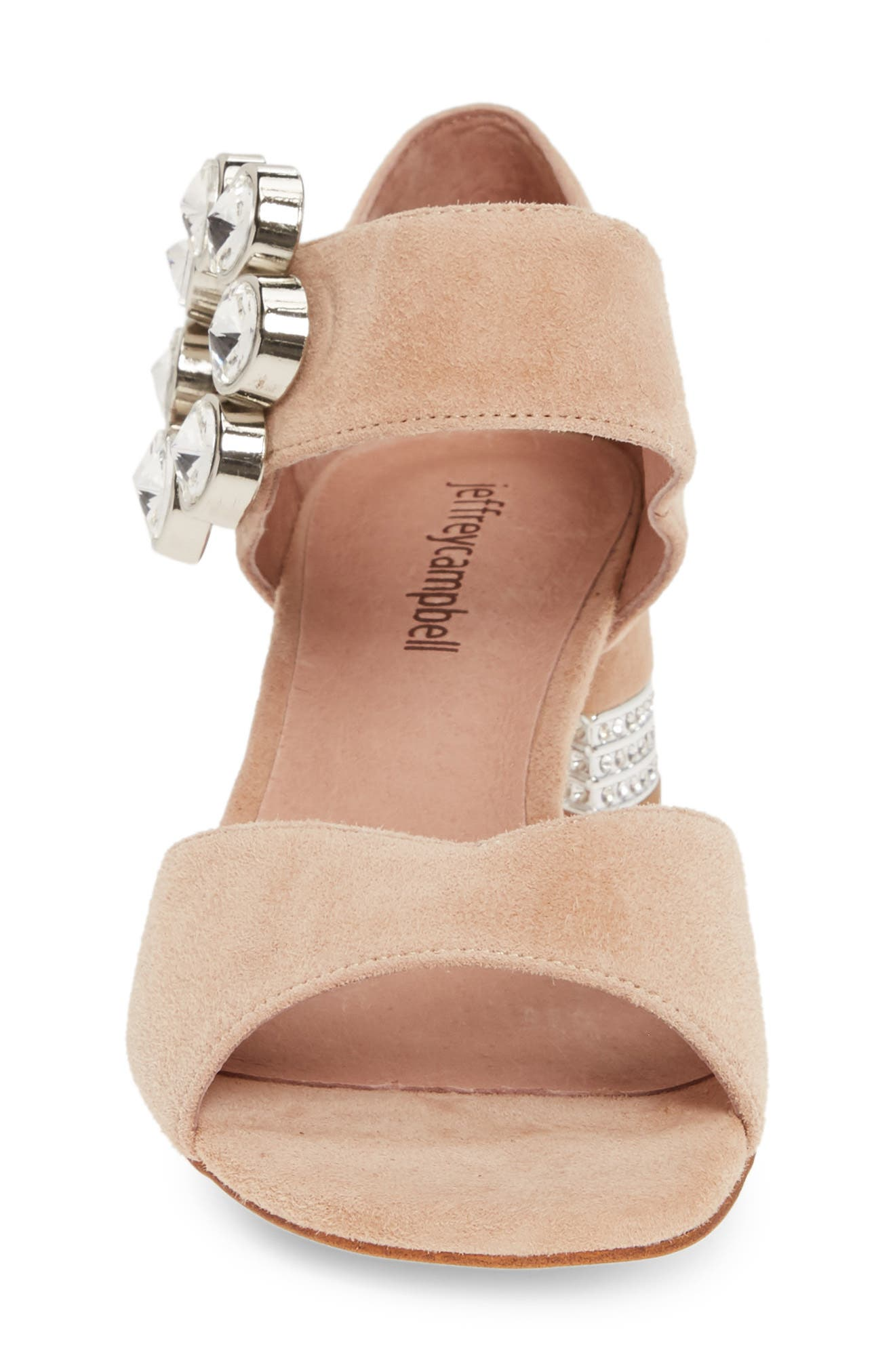 ,                             Boleyn Sandal,                             Alternate thumbnail 4, color,                             NUDE SUEDE/ SILVER