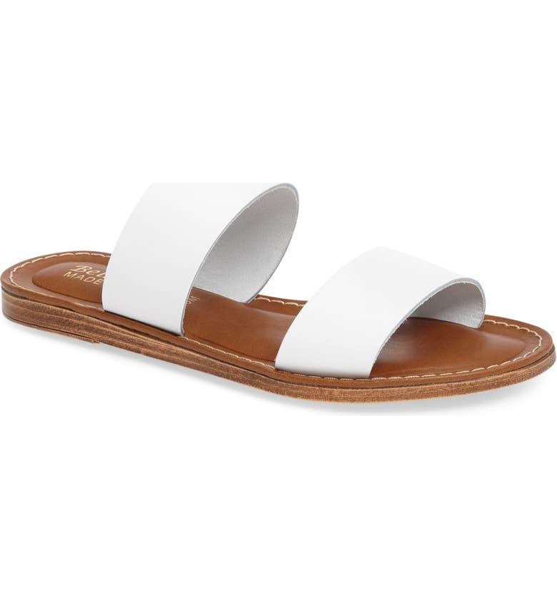 BELLA VITA Imo Slide Sandal, Main, color, WHITE LEATHER