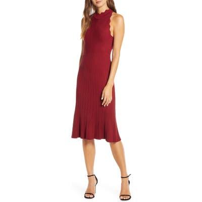 Adelyn Rae Freya Sleeveless Sweater Dress, Red