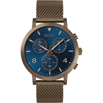 Boss Spirit Chronograph Mesh Strap Watch, 41Mm