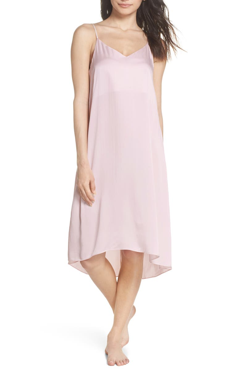 PAPINELLE Silk Nightgown, Main, color, ICE PINK