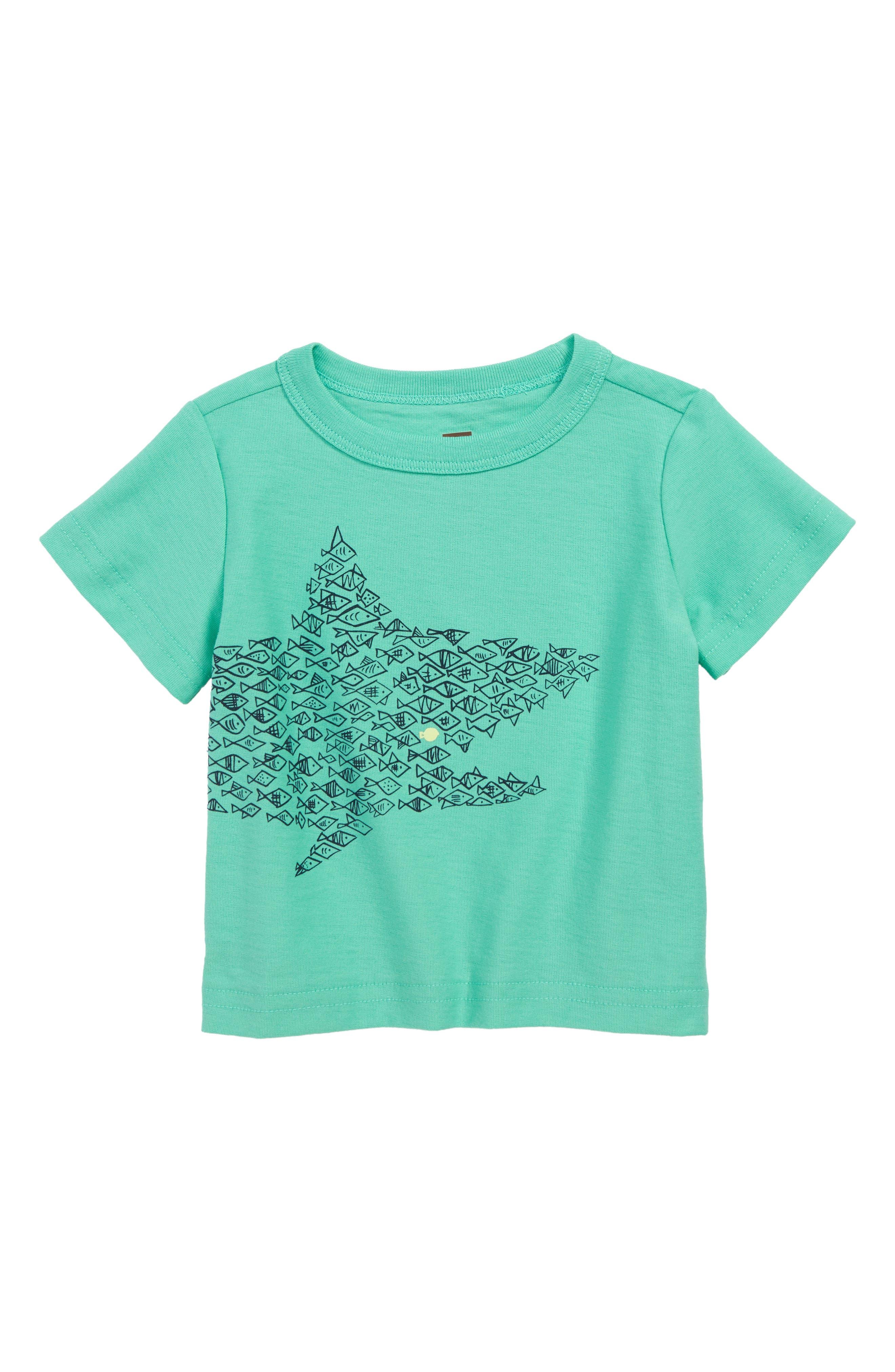 ,                             One Big Fish Graphic T-Shirt,                             Main thumbnail 1, color,                             CARIBBEAN GREEN