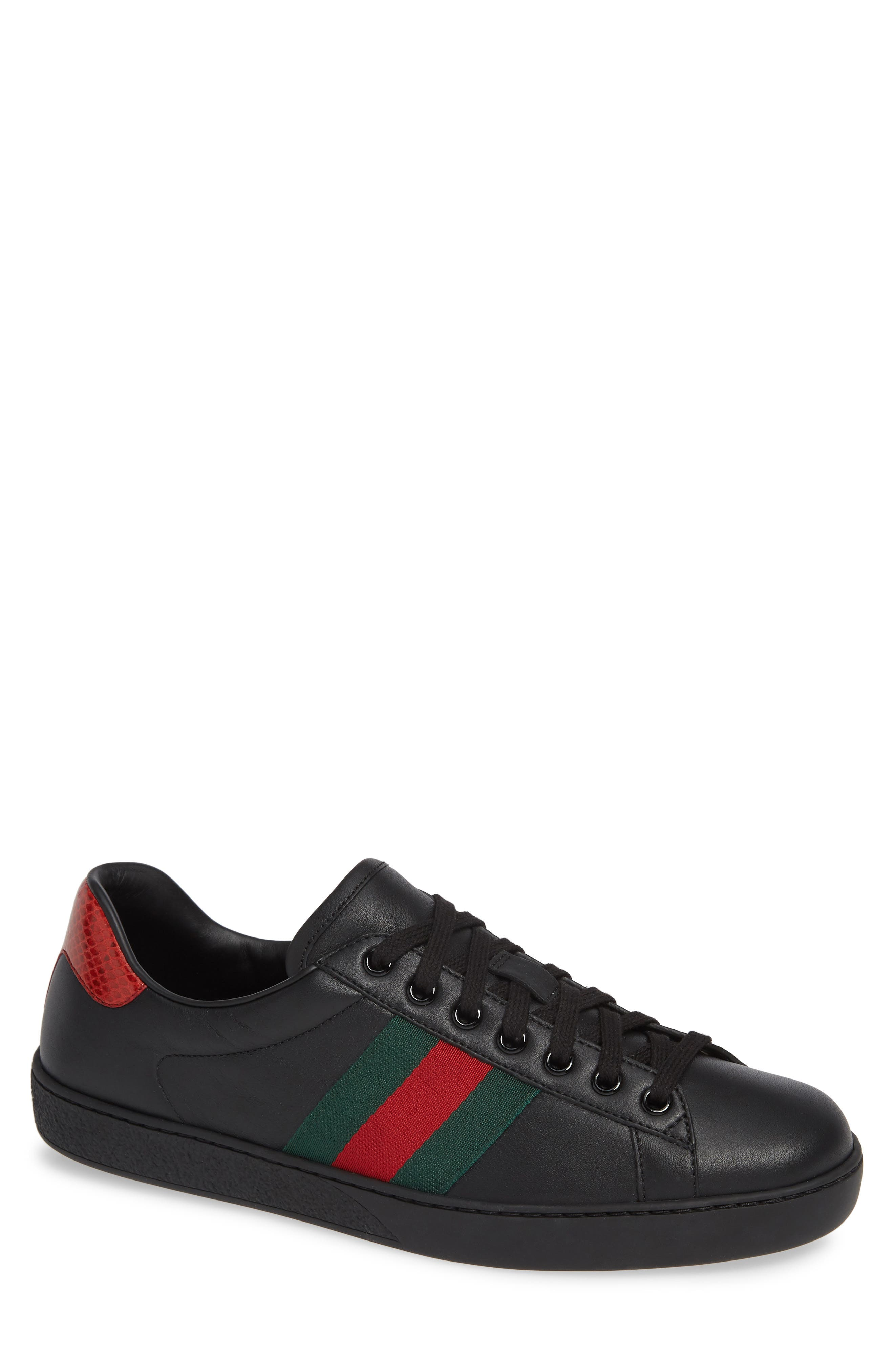 ,                             New Ace Clean Sneaker,                             Main thumbnail 1, color,                             BLACK/ RED