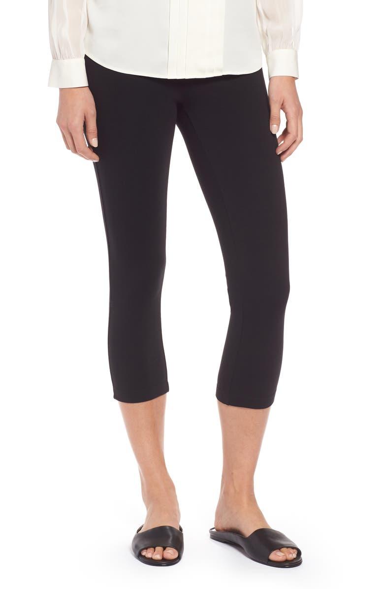 NIC+ZOE Perfect Crop Leggings, Main, color, BLACK ONYX