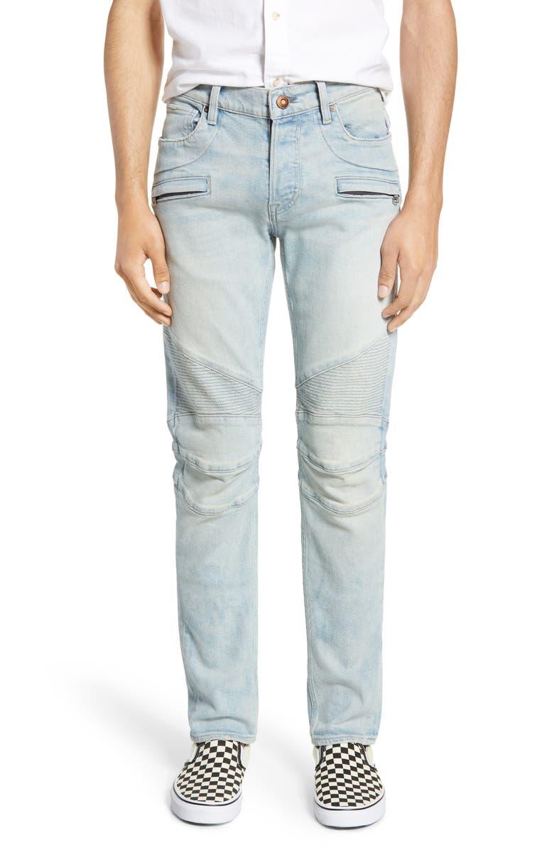 HUDSON JEANS Blinder Skinny Fit Biker Jeans, Main, color, 401