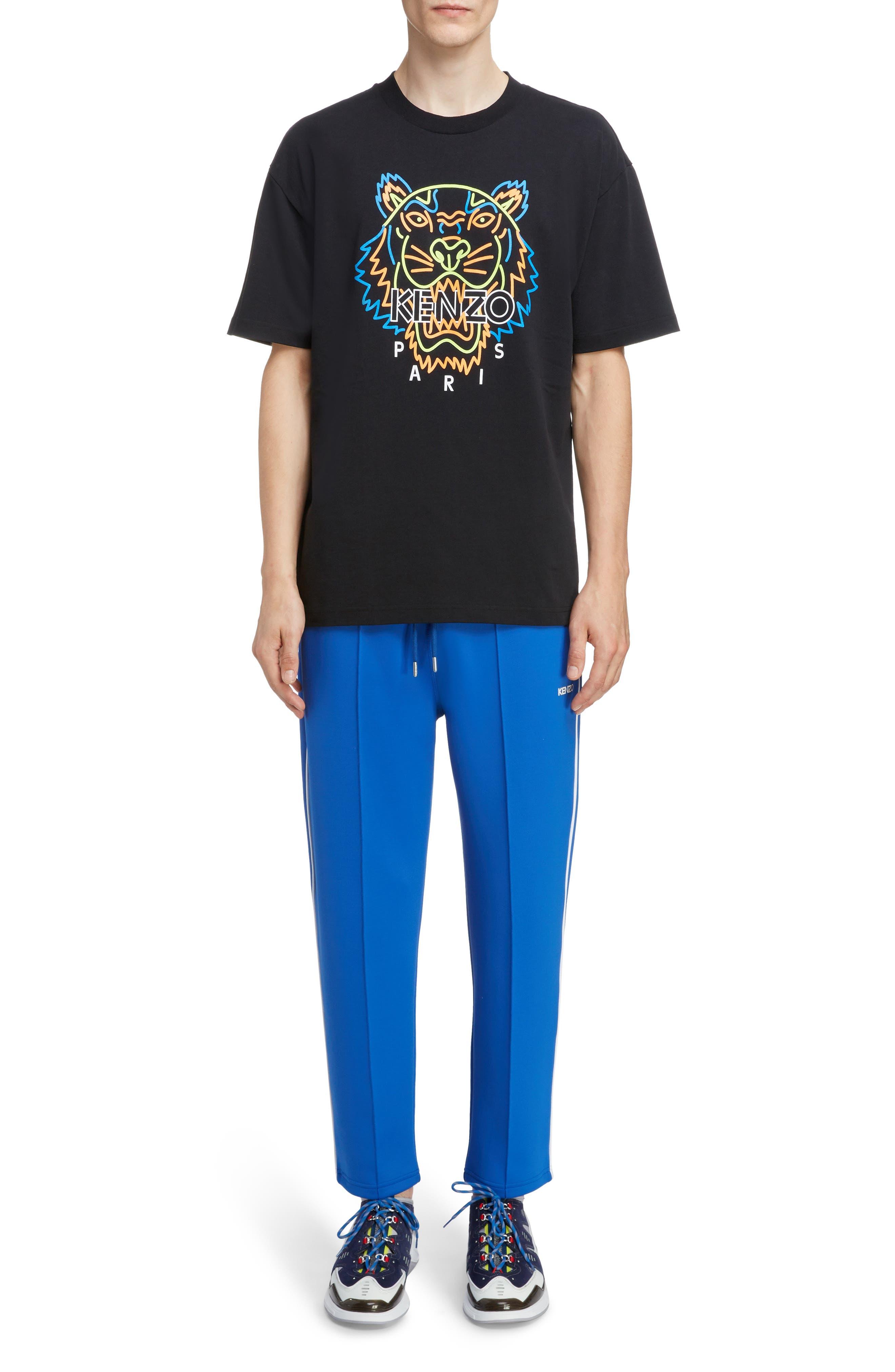 Kenzo T-shirts Neon Tiger Graphic T-Shirt