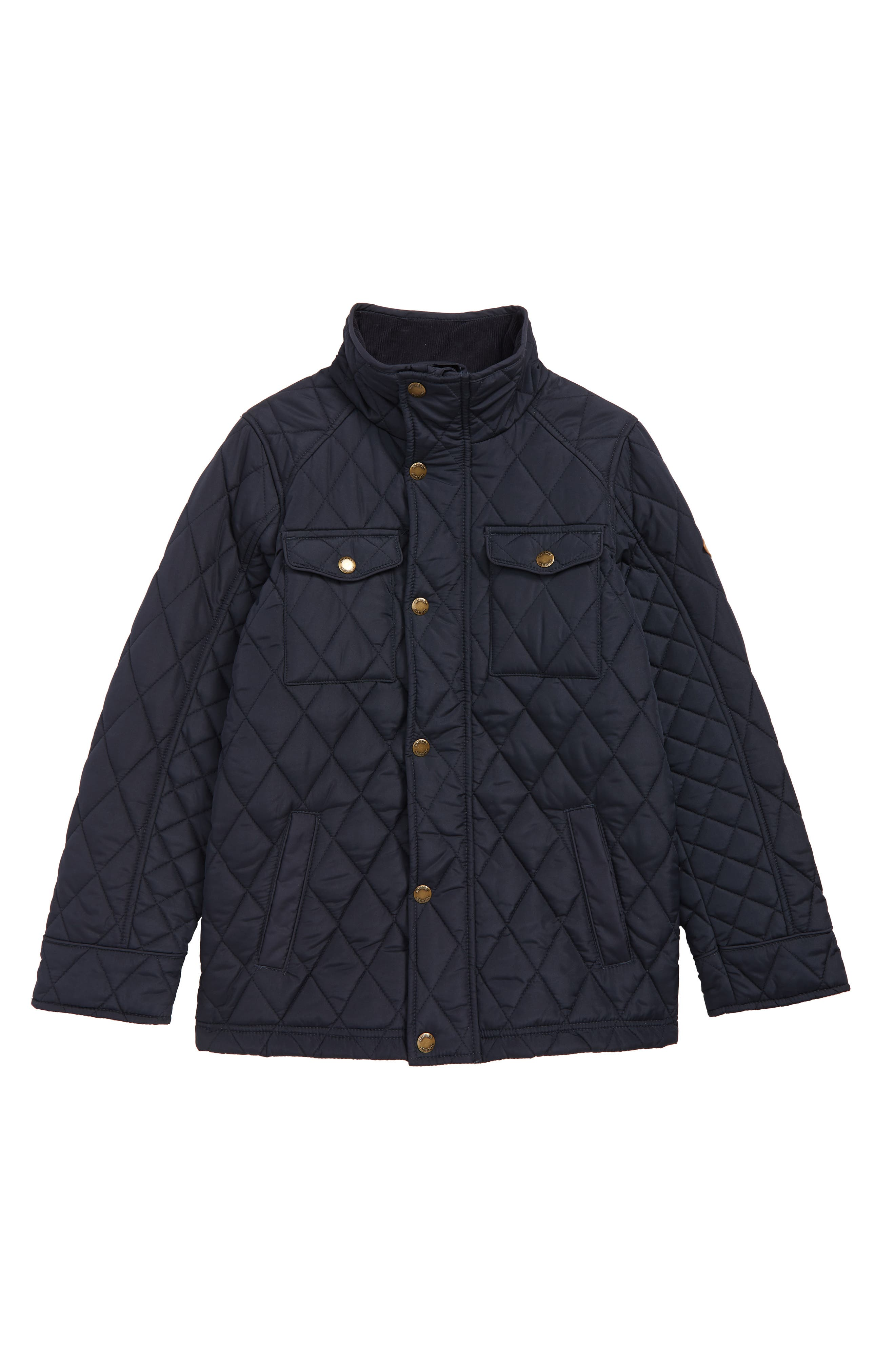Stafford Quilted Jacket, Main, color, NAVY