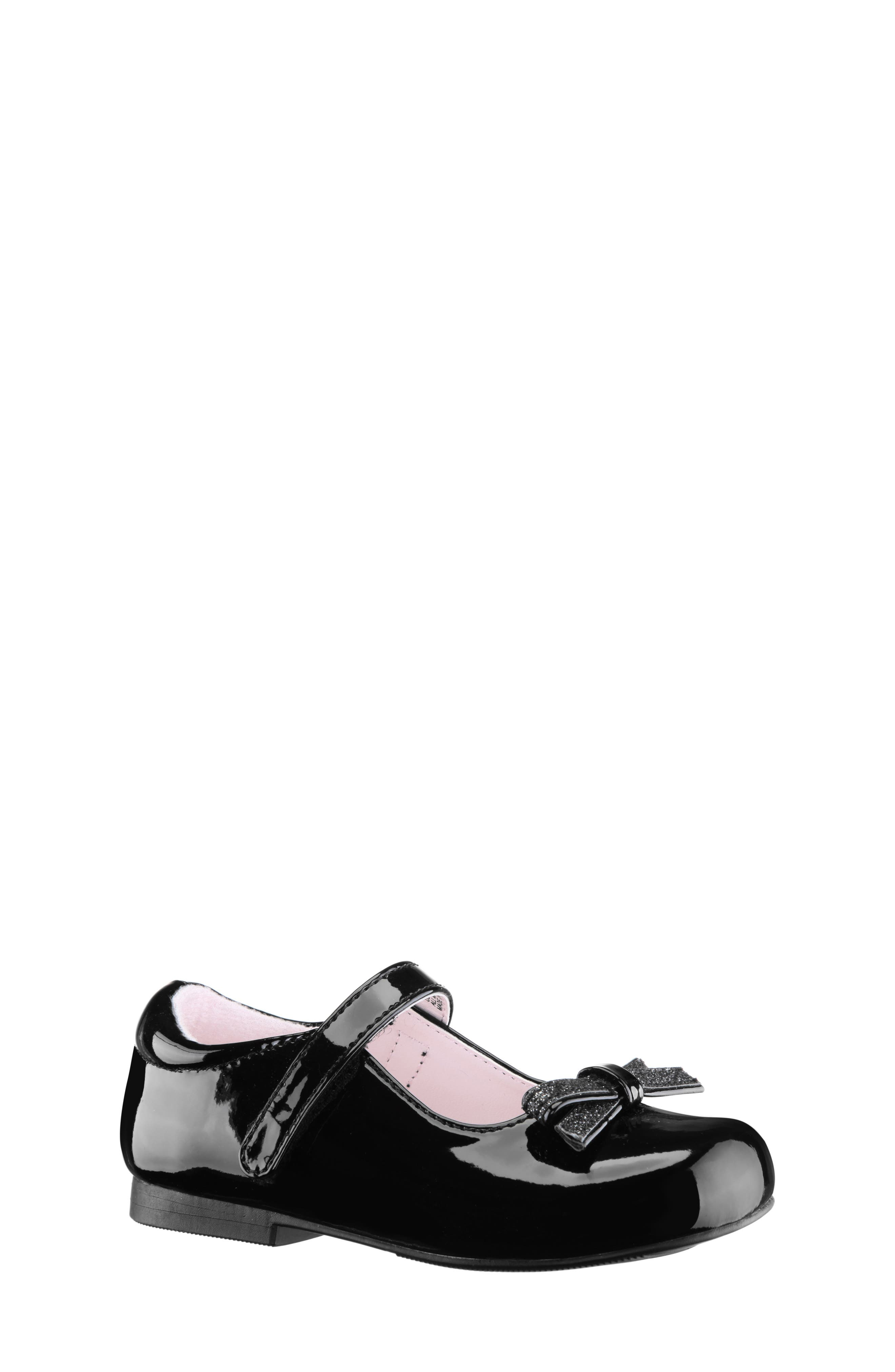 Toddler Girls Nina Christin Glitter Bow Mary Jane Size 8 M  Black