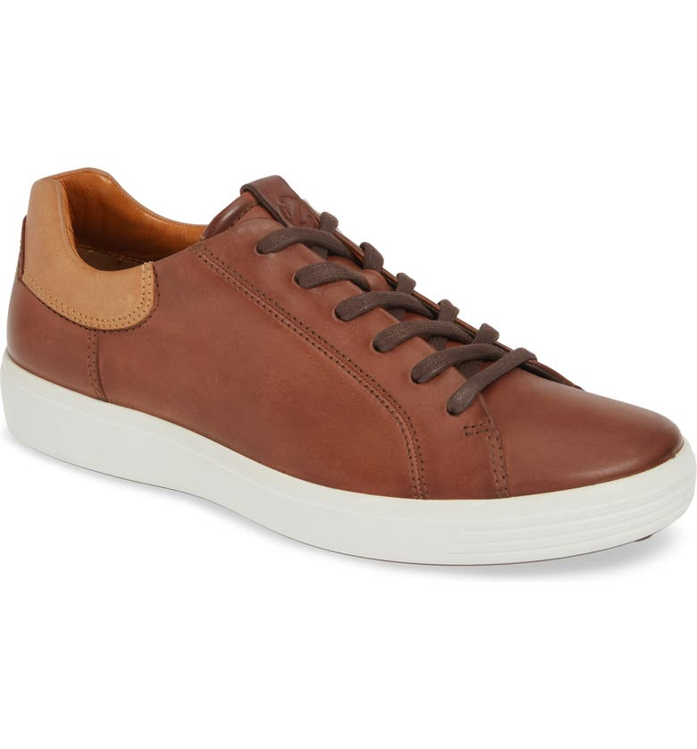 ECCO Soft 7 Sneaker, Main, color, MAHOGANY LEATHER