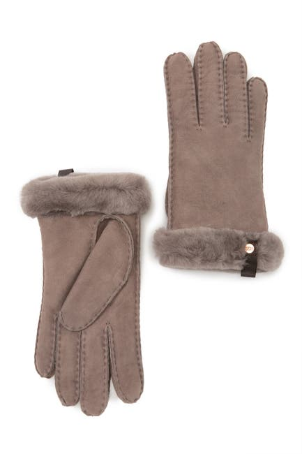 Image of UGG Genuine Shearling Water Resistant Shorty Gloves