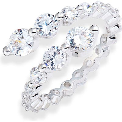 Nordstrom Graduated Cubic Zirconia Bypass Ring
