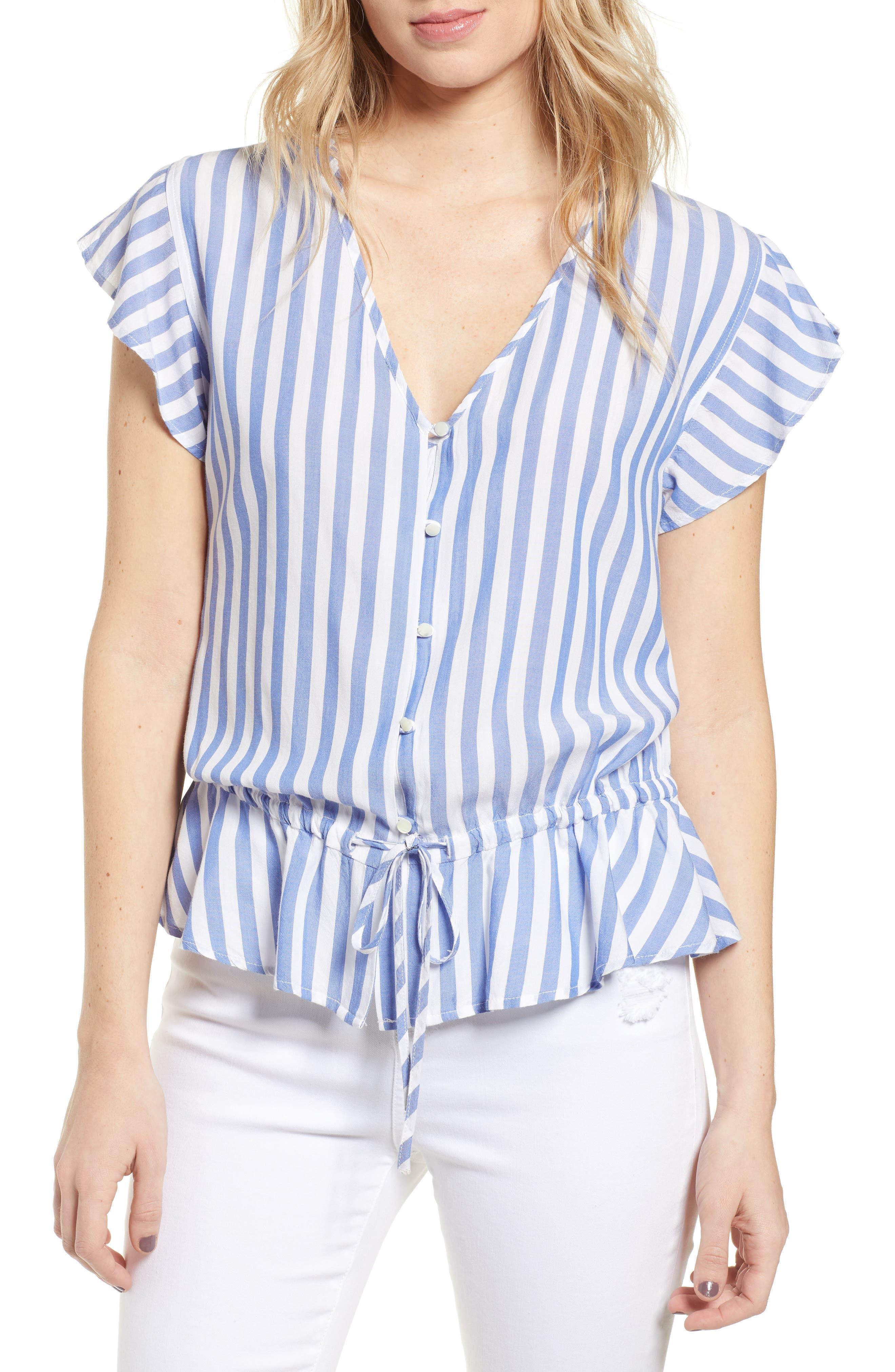 Ruffle Shirt, Main, color, MONACO STRIPE
