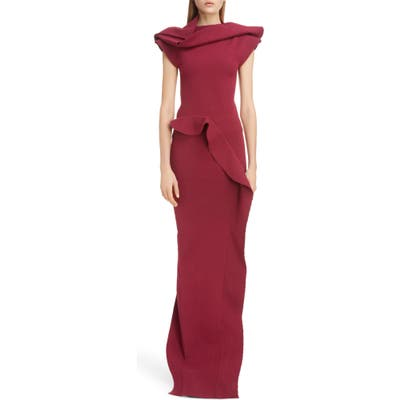 Rick Owens Open Back Stretch Jersey Gown