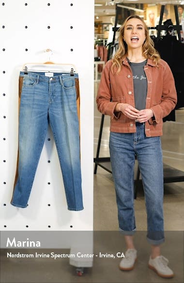Le High Straight Side Panel Jeans, sales video thumbnail