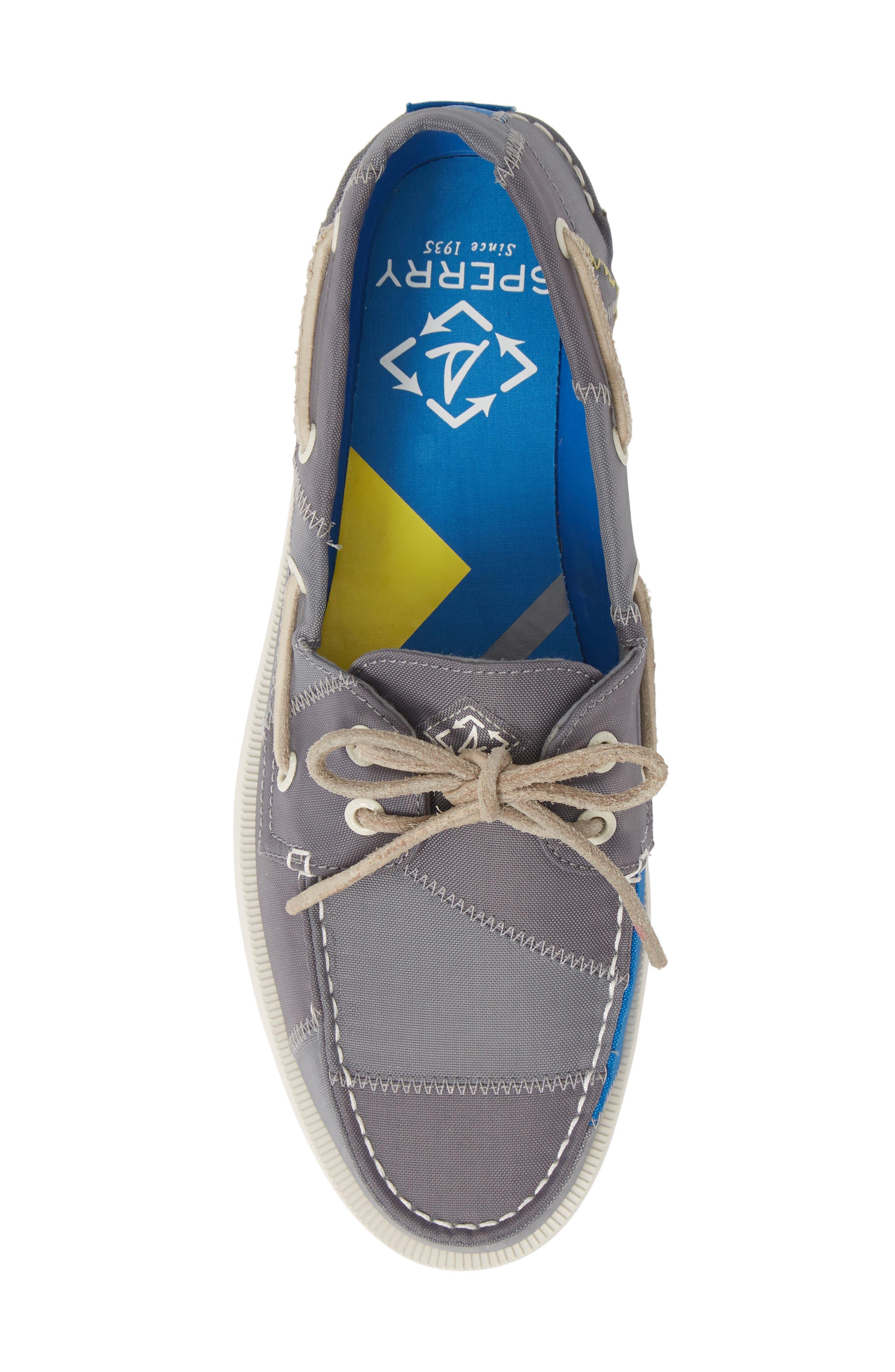 ,                             Authentic Original BIONIC<sup>®</sup> Boat Shoe,                             Alternate thumbnail 5, color,                             GREY/ BLUE