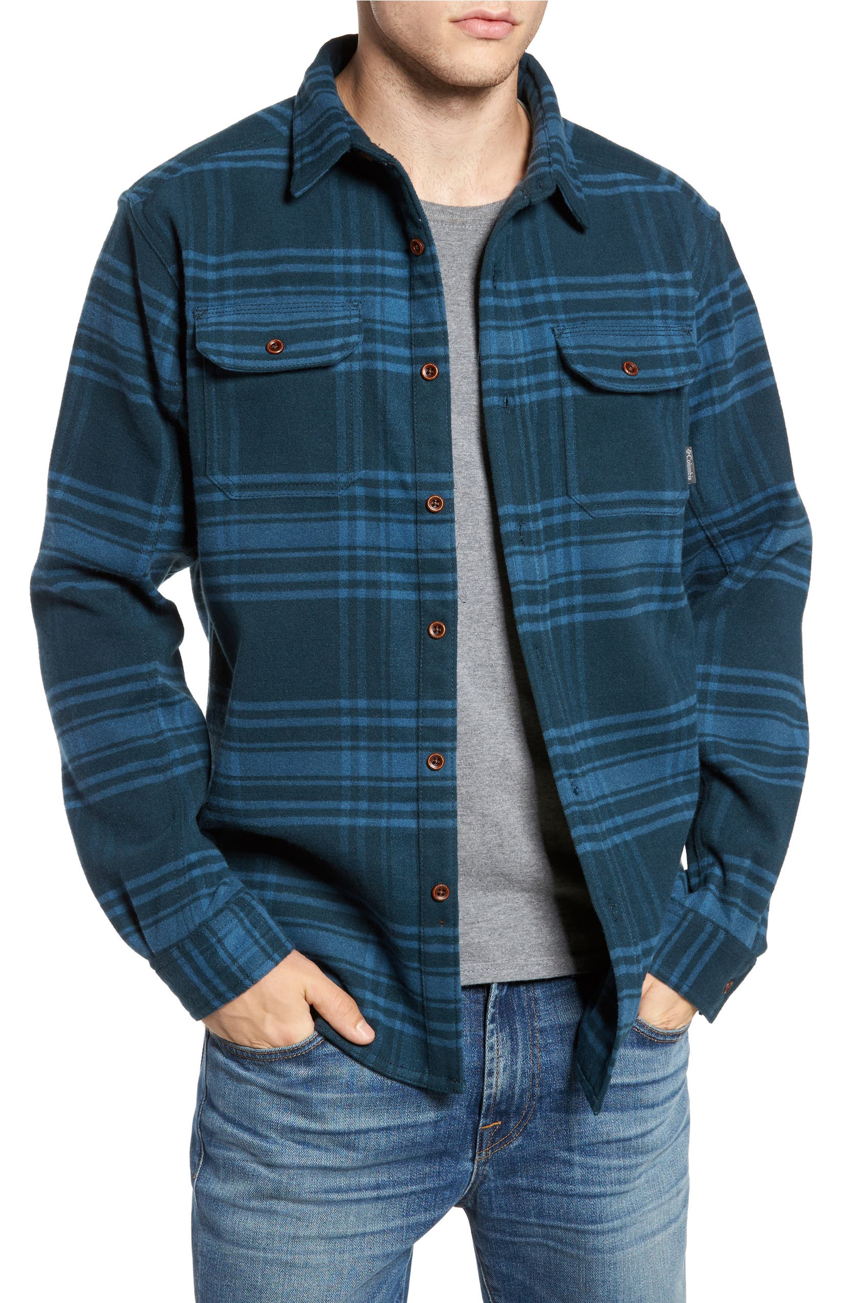 993a04353c0 Columbia Deschutes River™ Heavyweight Flannel Shirt Jacket | Nordstrom
