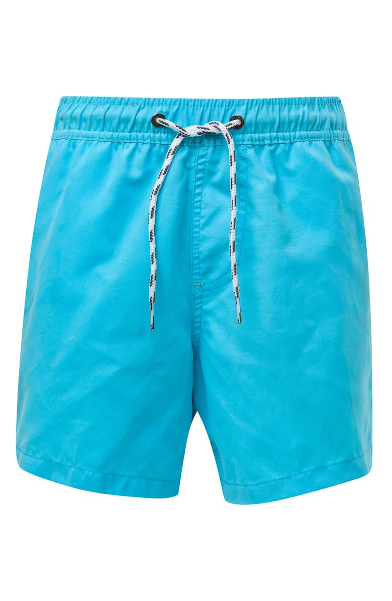 SNAPPER ROCK Aqua Swim Trunks, Main, color, MEDIUM BLUE