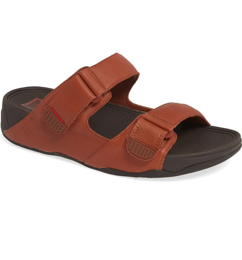 FITFLOP Gogh Sandal, Main, color, DARK TAN LEATHER