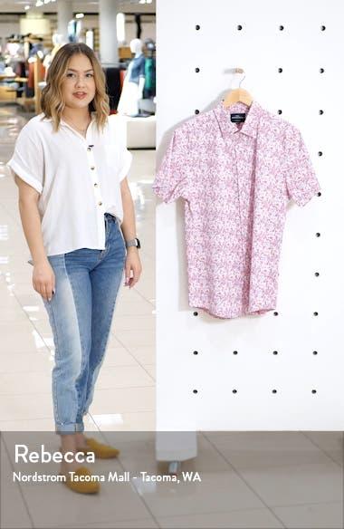 Lake Roxburgh Regular Fit Floral Short Sleeve Button-Up Shirt, sales video thumbnail