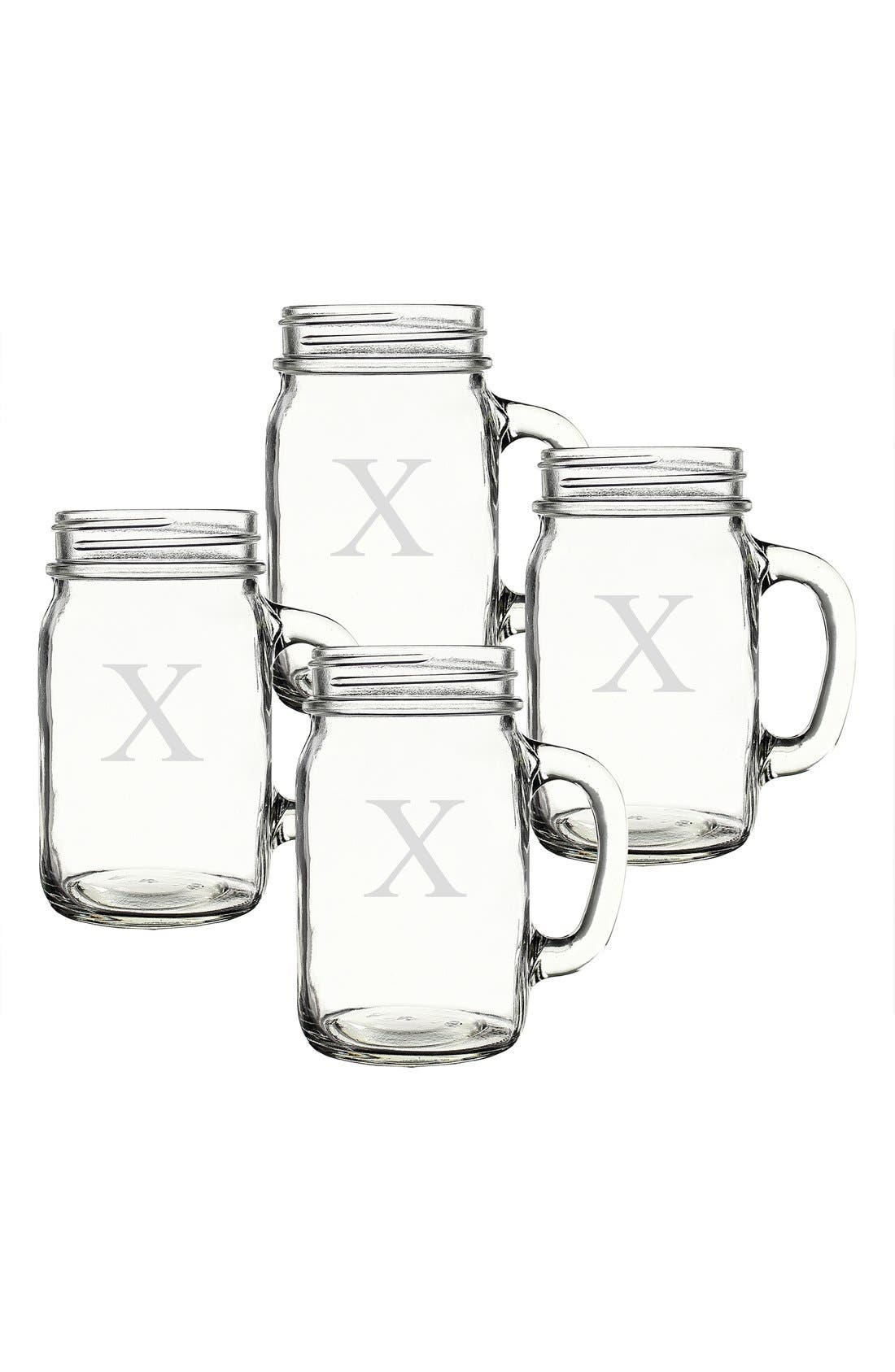 ,                             Monogram Glass Drinking Jars,                             Alternate thumbnail 77, color,                             983