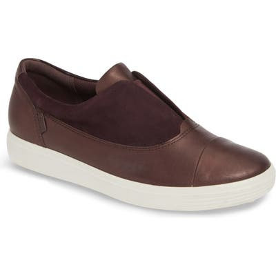 Ecco Soft 7 Iii Slip-On Sneaker, Burgundy