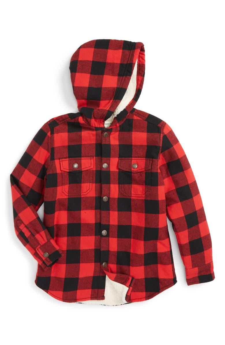 e7d0f68ee Tucker + Tate Heavy Hooded Flannel Shirt (Toddler Boys & Little Boys ...