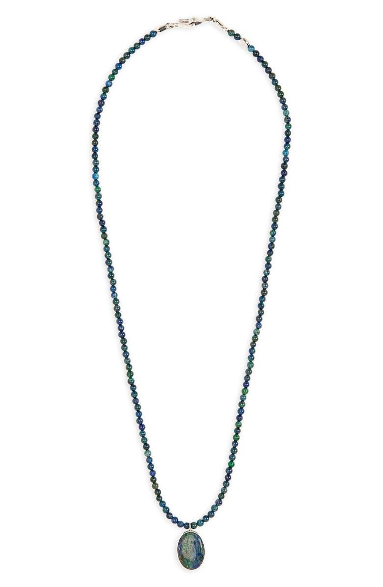 CAPUTO & CO. Azurite Pendant Necklace, Main, color, 440
