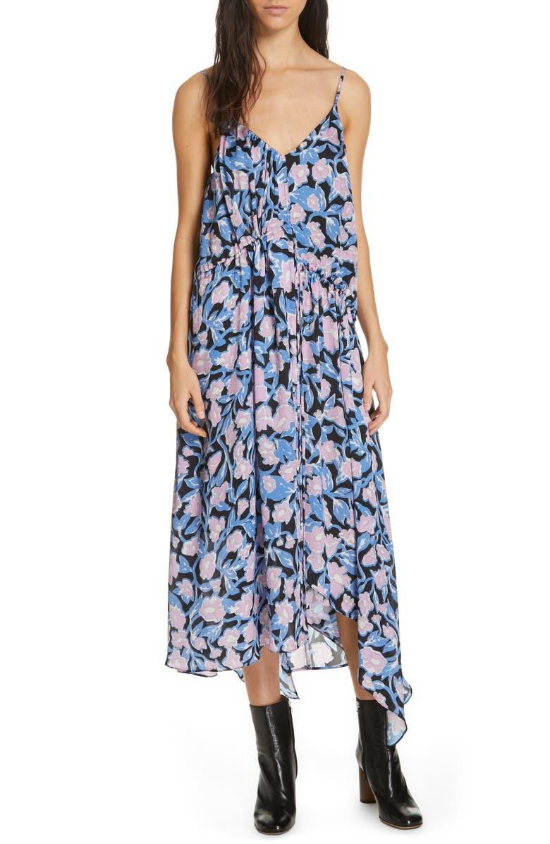 CHRISTIAN WIJNANTS Dev Floral Print Silk Midi Dress, Main, color, 650