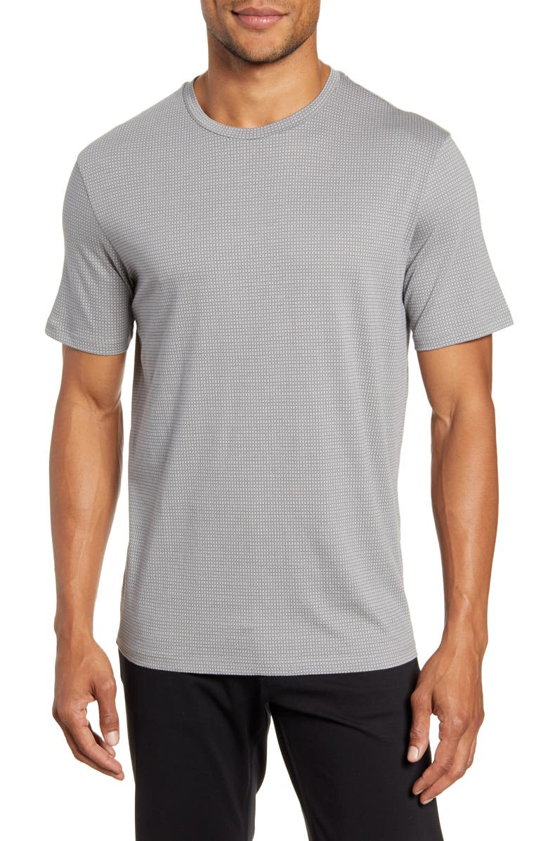 THEORY Cube Slim Fit Print T-Shirt, Main, color, BEDROCK/ ECLIPSE