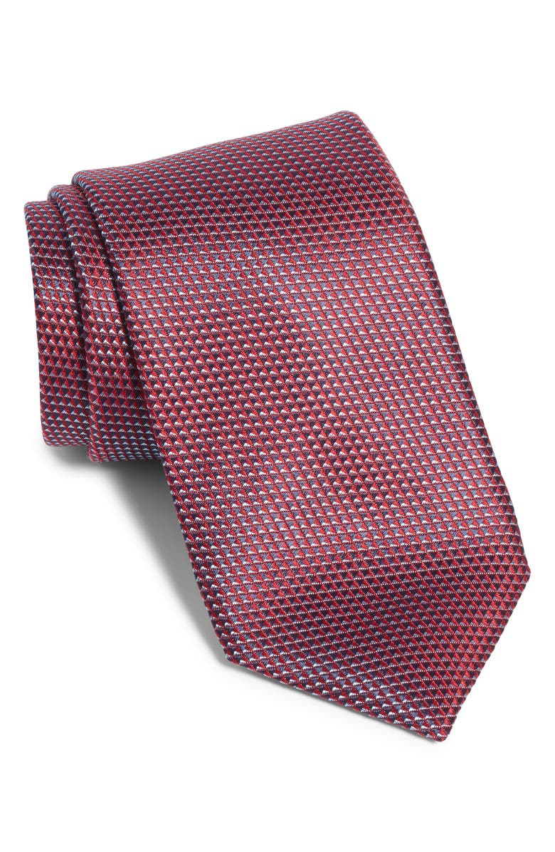 BOSS Geometric Tie, Main, color, RED