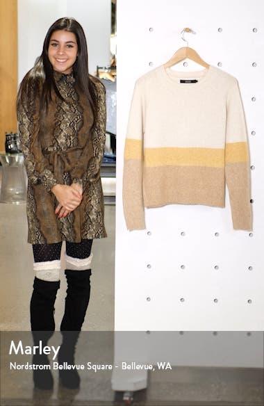 Doffy Colorblock Oversize Crewneck Sweater, sales video thumbnail