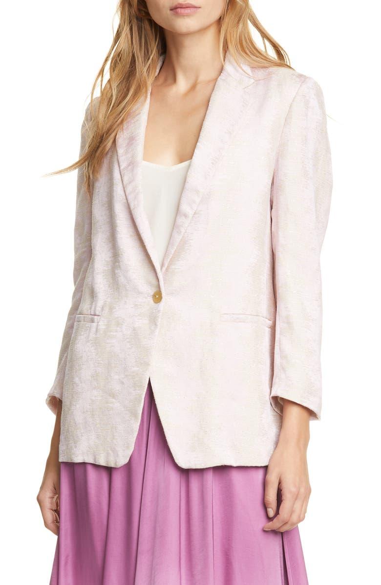 FORTE_FORTE Fluid Jacquard Jacket, Main, color, CIPRIA