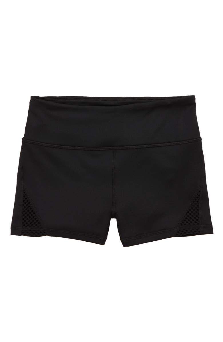 ZELLA GIRL Movement Shorts, Main, color, BLACK