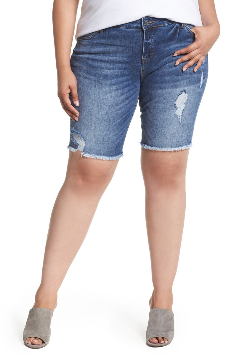 KUT FROM THE KLOTH Sophie Bermuda Shorts, Main, color, COMRADE