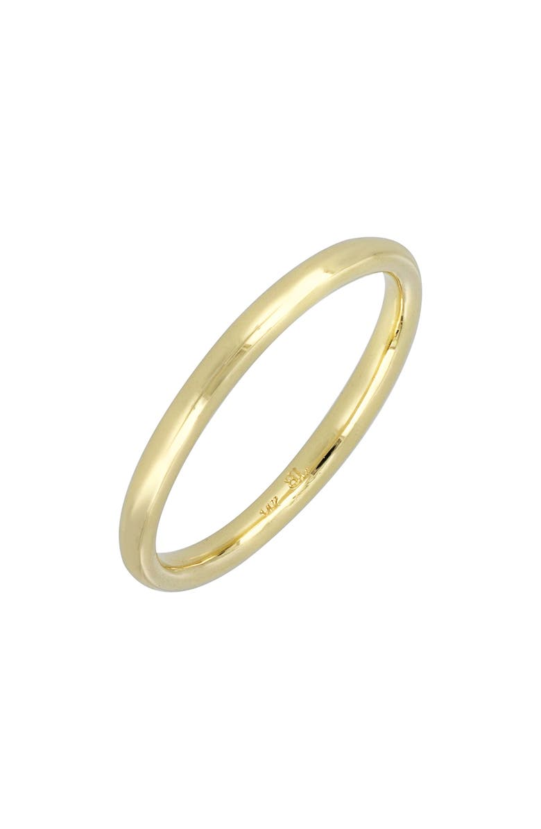 BONY LEVY Wedding Band Ring, 2mm, Main, color, YELLOW GOLD