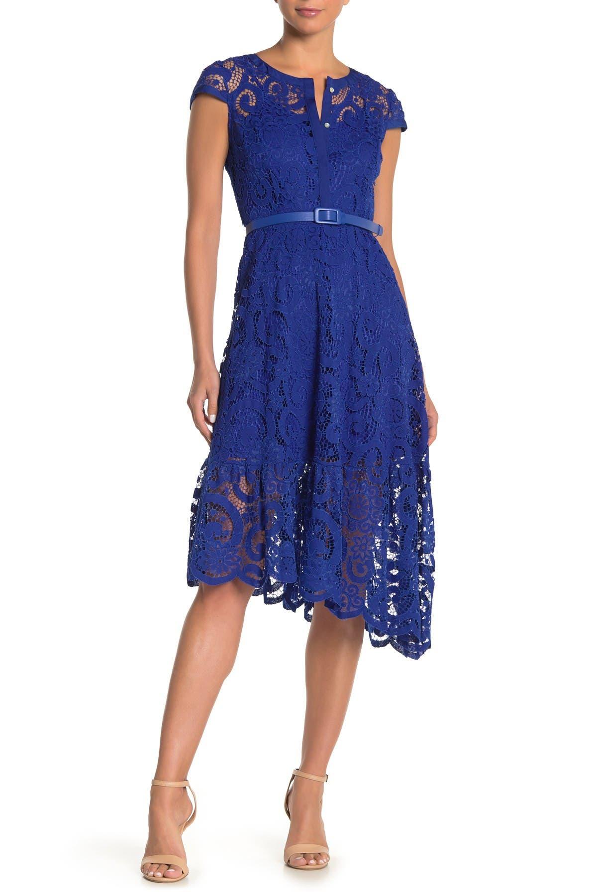 Image of NANETTE nanette lepore Cap Sleeve Lace Dress