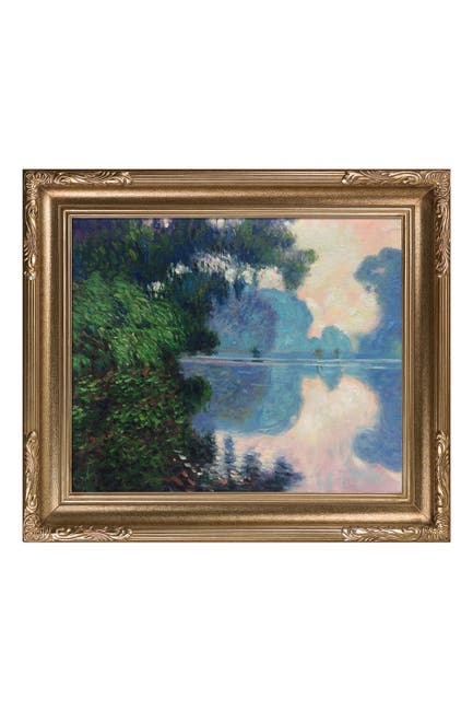 """Image of Overstock Art Morning on the Seine near Giverny, Florentine Dark Champagne Frame - 27"""" x 31"""""""