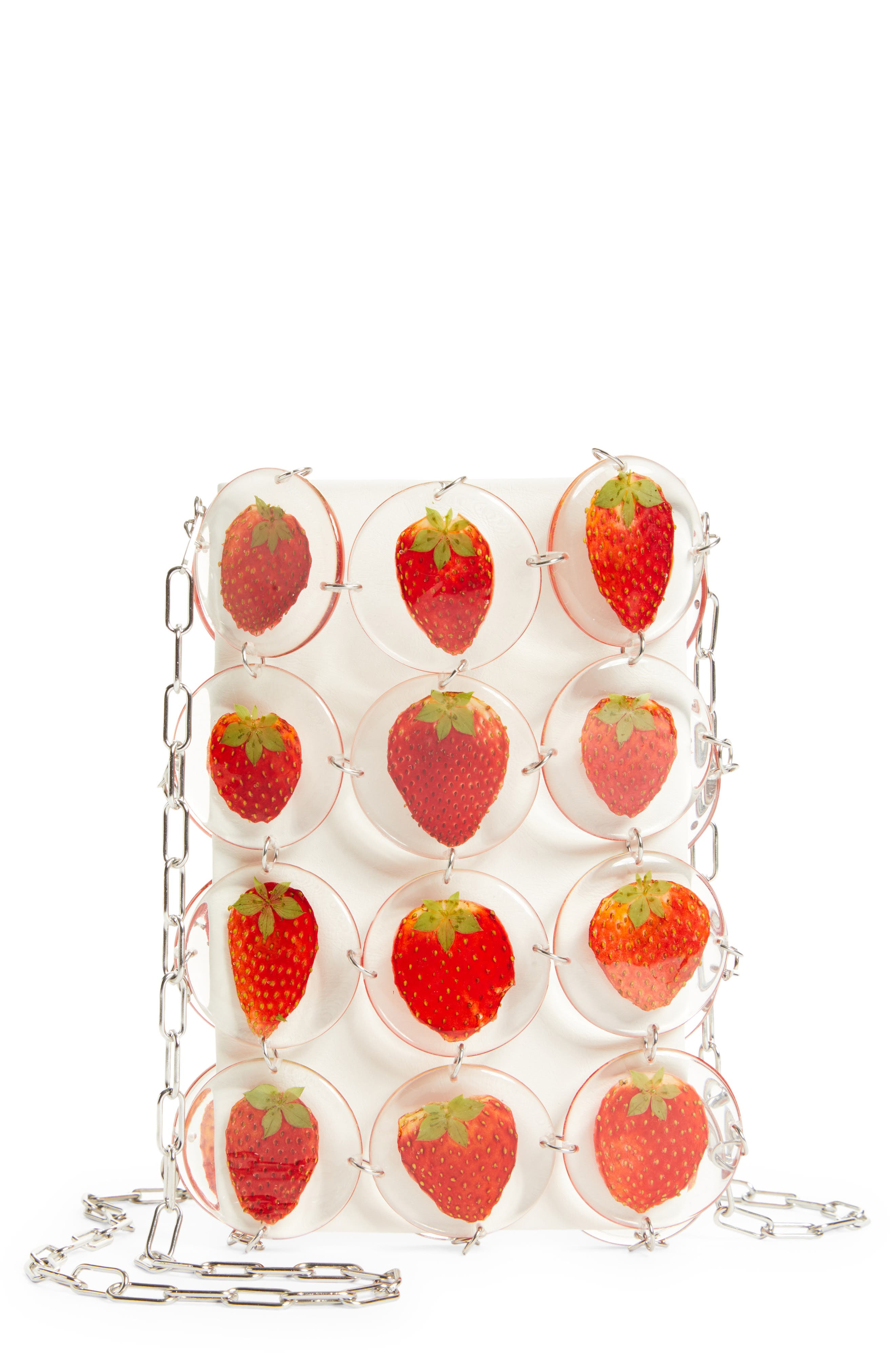 Small Strawberry Chain Mail Bag