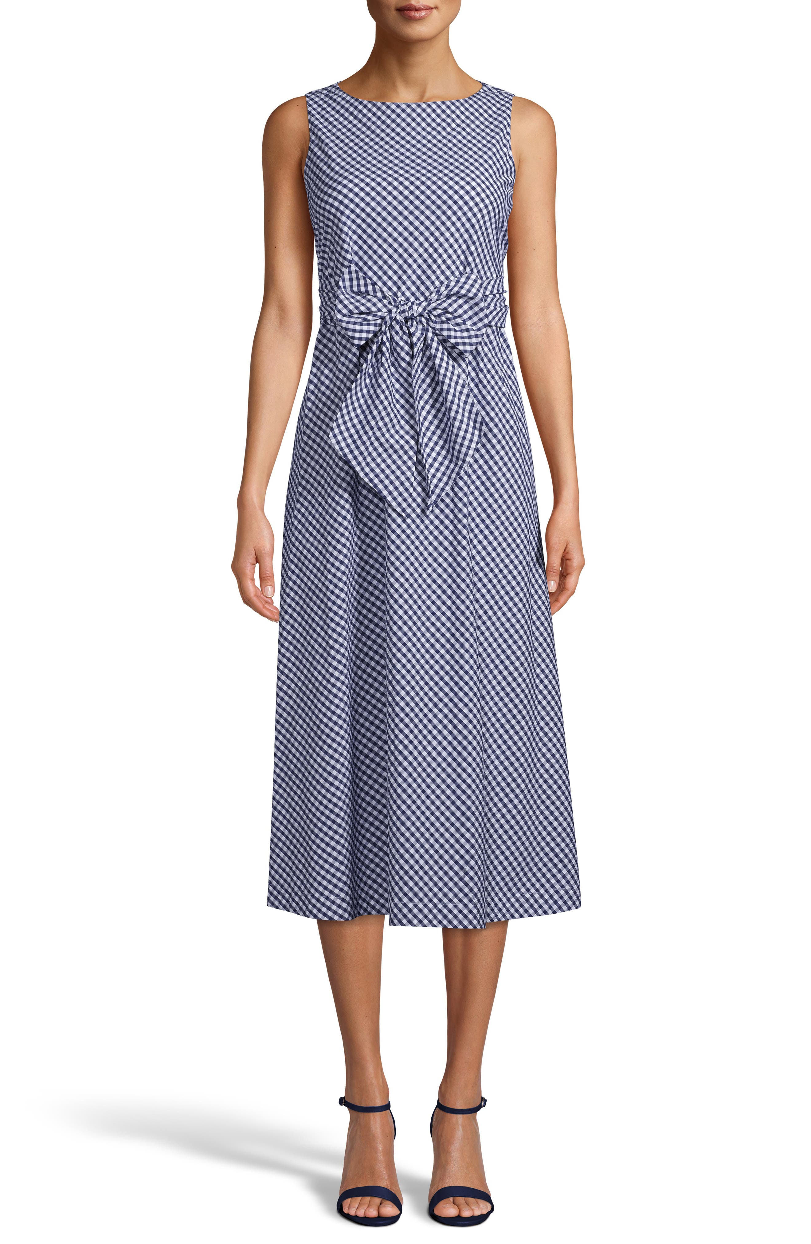 Gingham Cotton Midi Dress