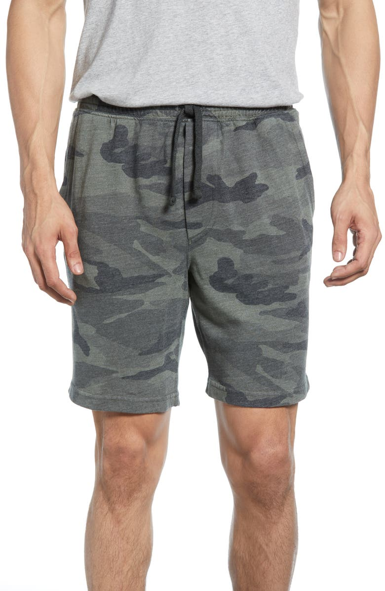 MILLS SUPPLY BY SPLENDID Sonoma French Terry Drawstring Sweat Shorts, Main, color, OLIVE BRANCH