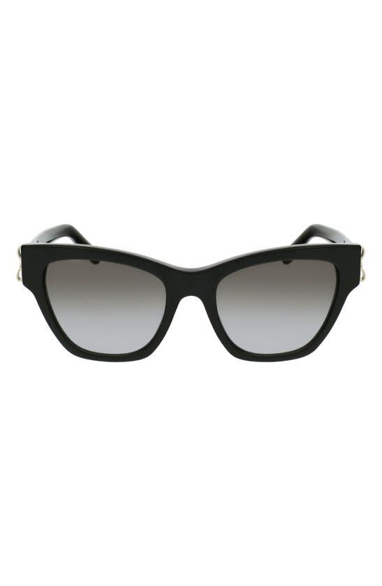SALVATORE FERRAGAMO Sunglasses 53MM GRADIENT RECTANGLE SUNGLASSES