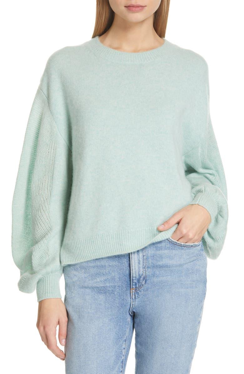 BROCHU WALKER Desy Crew Sweater, Main, color, JULEP MELANGE