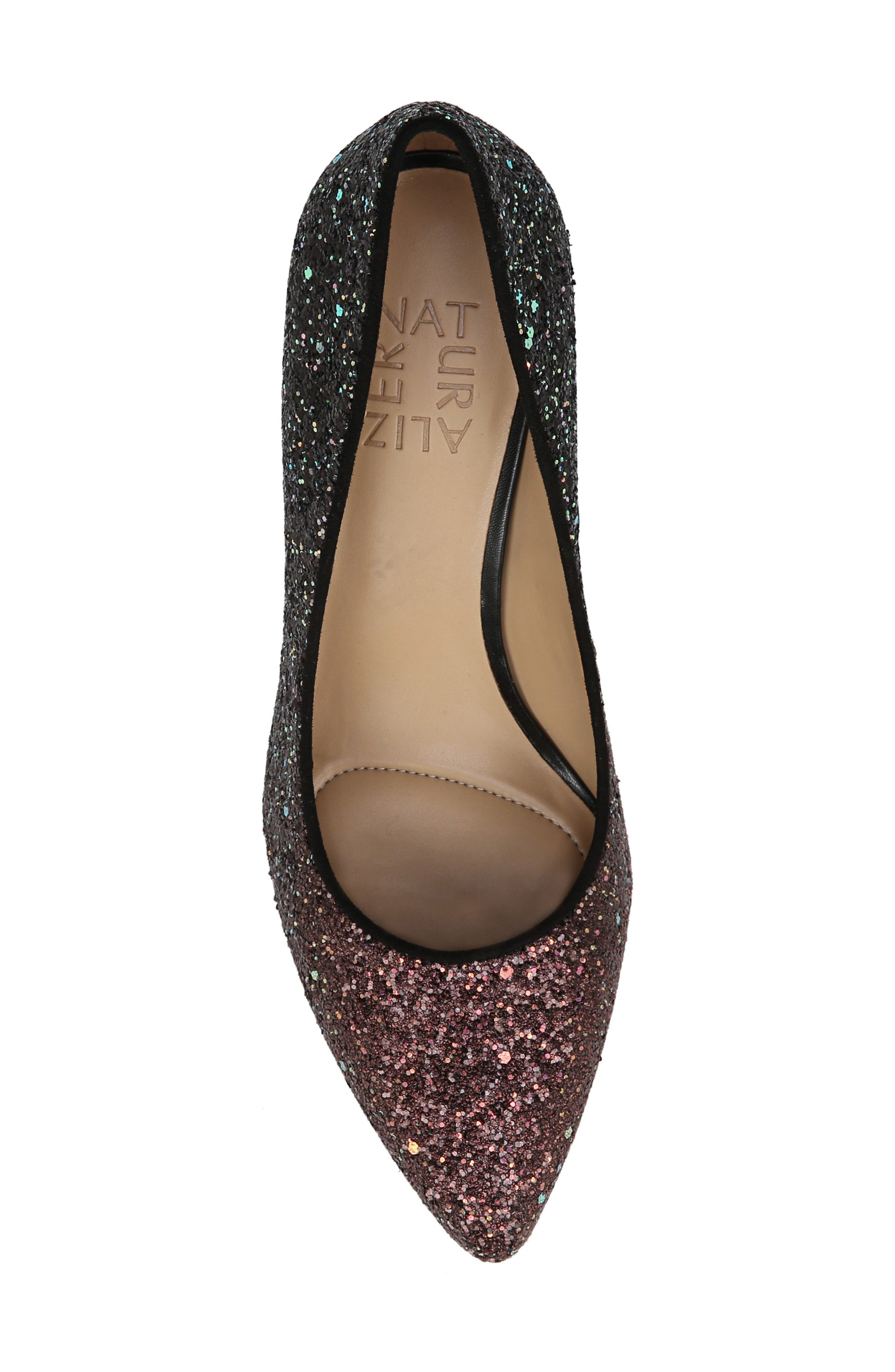 ,                             Natalie Pointy Toe Pump,                             Alternate thumbnail 4, color,                             MULTI GLITTER FABRIC
