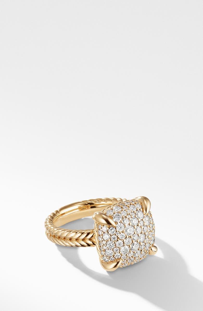 DAVID YURMAN Chatelaine<sup>®</sup> 18K Yellow Gold Ring with Diamonds, Main, color, YELLOW GOLD/ DIAMOND