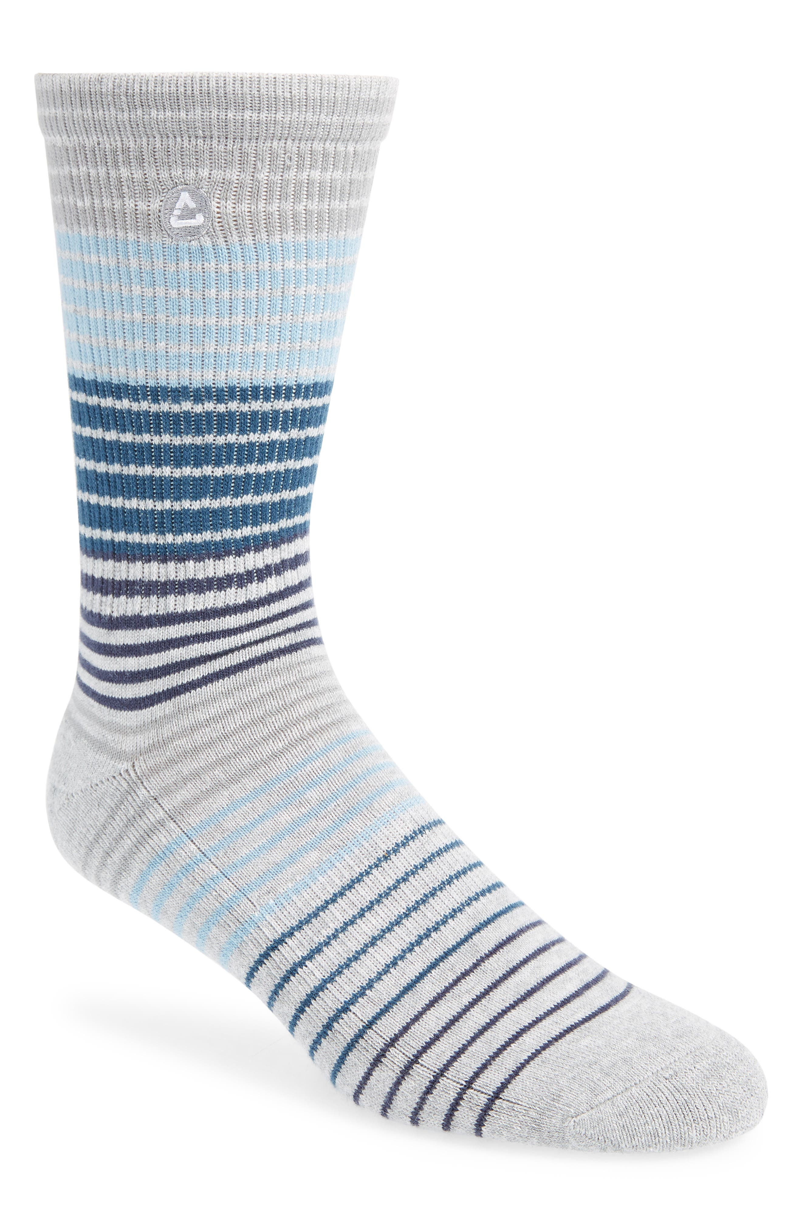 Mixed stripes bring maxed style to crew socks knit from odor-blocking fabric with enhanced cushioning putting comfort under every step. Style Name: Travismathew Ramsey Stripe Crew Socks. Style Number: 6117120. Available in stores.