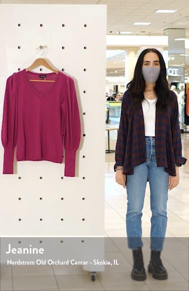 Blouson Sleeve Textured Sweater, sales video thumbnail