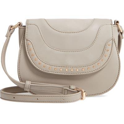 Sole Society Elyhn Faux Leather Crossbody Bag - Grey